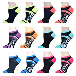 AirStep Women's No Show Athletic Socks - 12 Pack 16120-multi Sock Size: 9-11 Fits Shoe: 4-10
