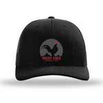 Men's Vintage Rooster Trucker Hat | Rocky Cock Apparel Black Classic Rooster Style