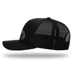Men's Outdoor Snapback Cap | Rocky Cock Apparel Black Classic Rooster Style