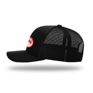 Mens Outdoor Adjustable Snapback Hat | Rocky Cock Apparel Black on Black RC Style