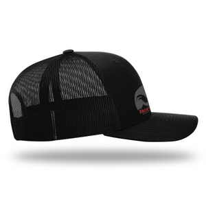 Men's Adjustable Adventure Trucker Hat | Rocky Cock Apparel Black Classic Rooster Style