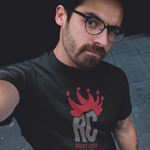 Men's Custom Graphic Tshirt | Royal Crown Red on Black Rocky Cock Tee