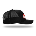Men's Popular Trucker Hat | Rocky Cock Apparel Black on Black RC Style