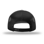 Men's Masculine Snapback Cap (Black and White Classic Rooster Front View) | Rocky Cock Apparel