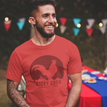 Men's Ultimate Graphic Tshirt | Classic Red on Red Rocky Cock Tee