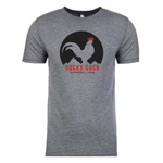 Men's Outdoor Graphic Tshirt | Classic Gray on Black Rocky Cock Tee
