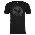 Men's Tshirt | Classic Rocky Cock Tee All Gray on Black
