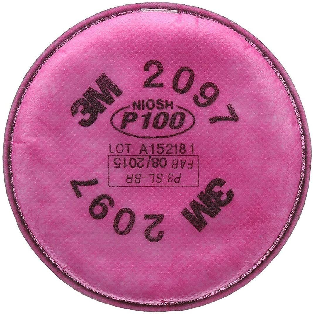 3M 2097 P100 Particulate Filter with Organic Vapor Relief, 6 Pair