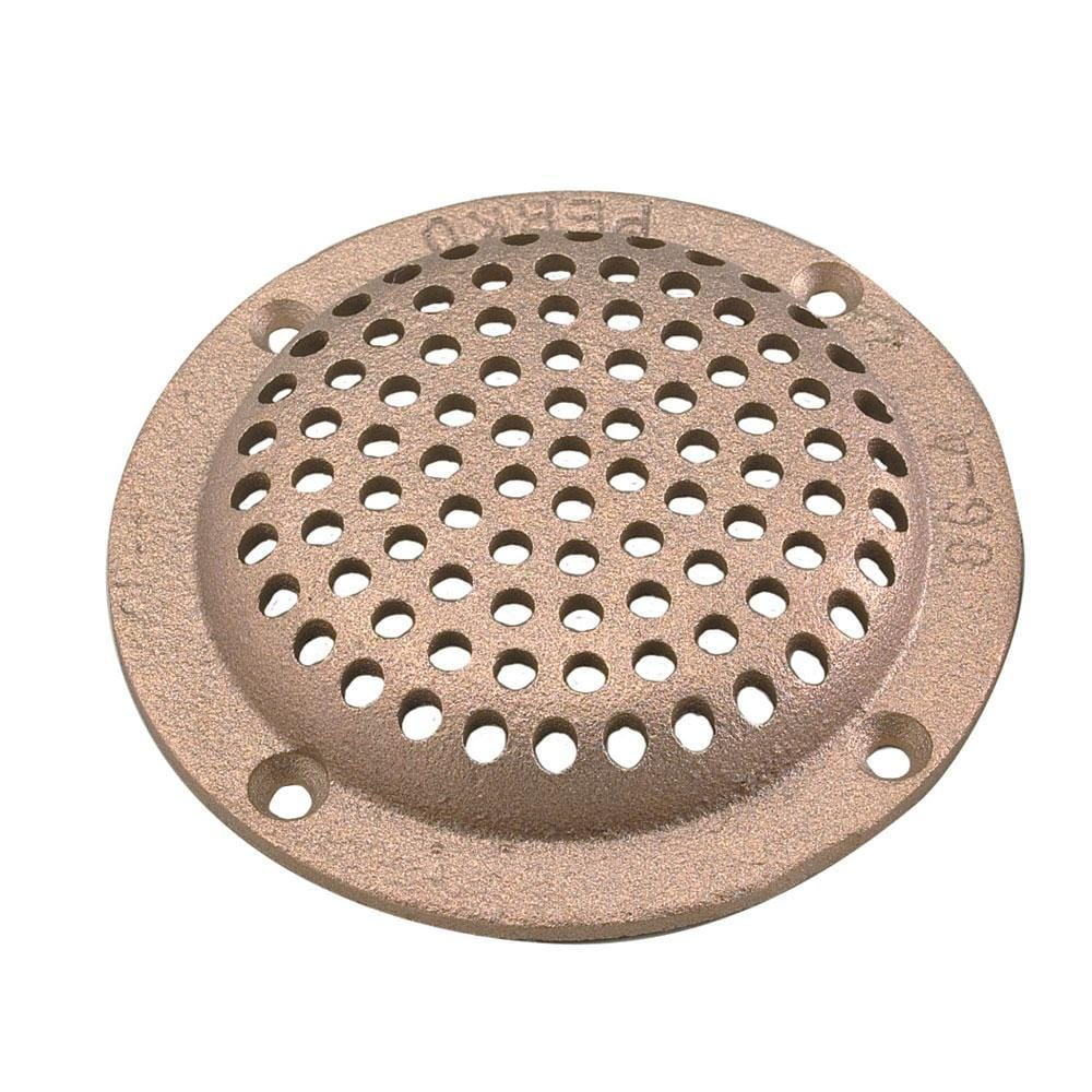 "Perko 6"" Round Bronze Strainer MADE IN THE USA"