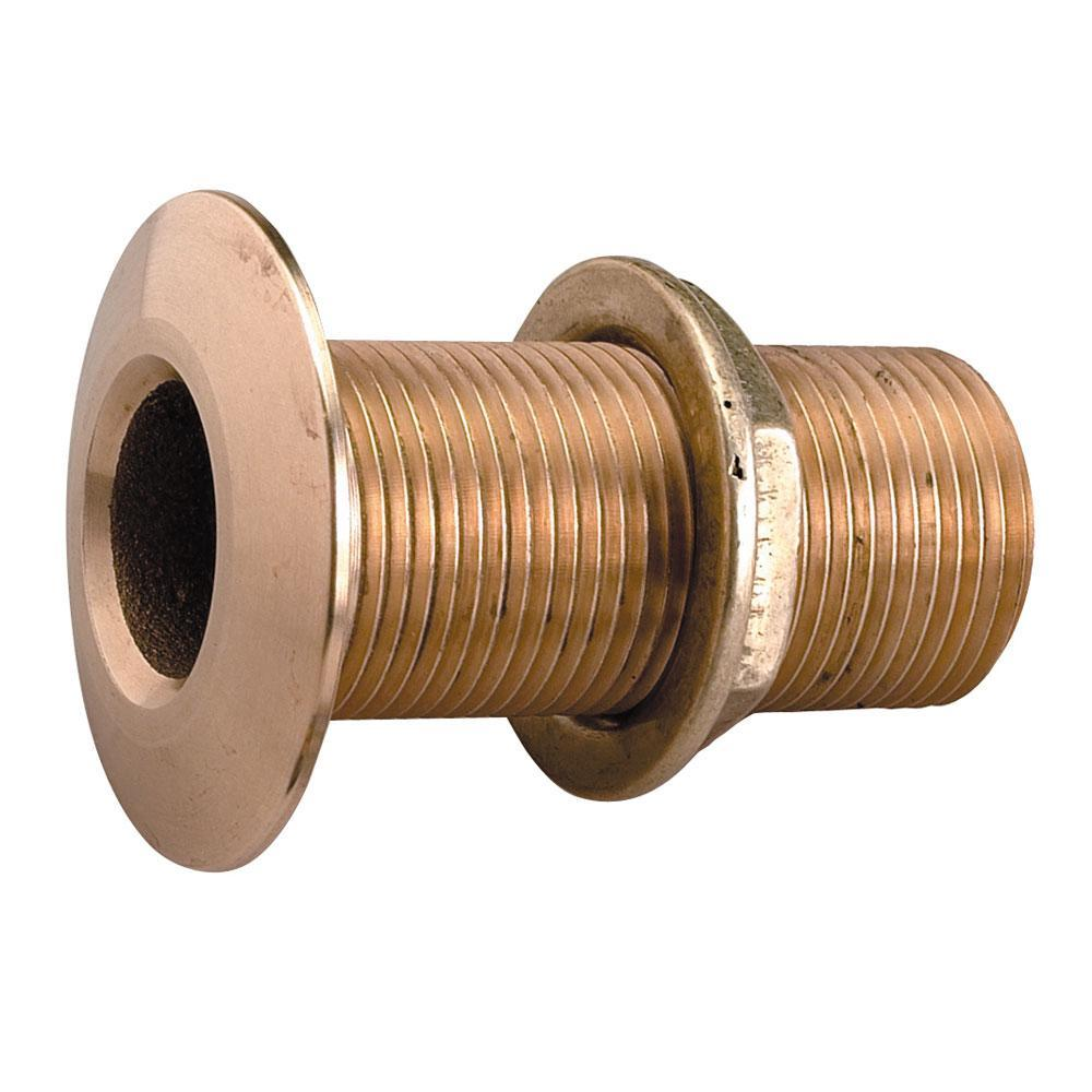 "Perko 1-1-4"" Thru-Hull Fitting w-Pipe Thread Bronze MADE IN THE USA"