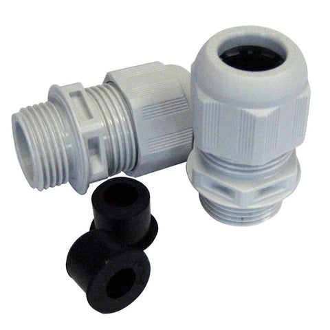 Seaview Polished Stainless Steel Cable Gland - Multi Cable(up to 2-17mm Each)