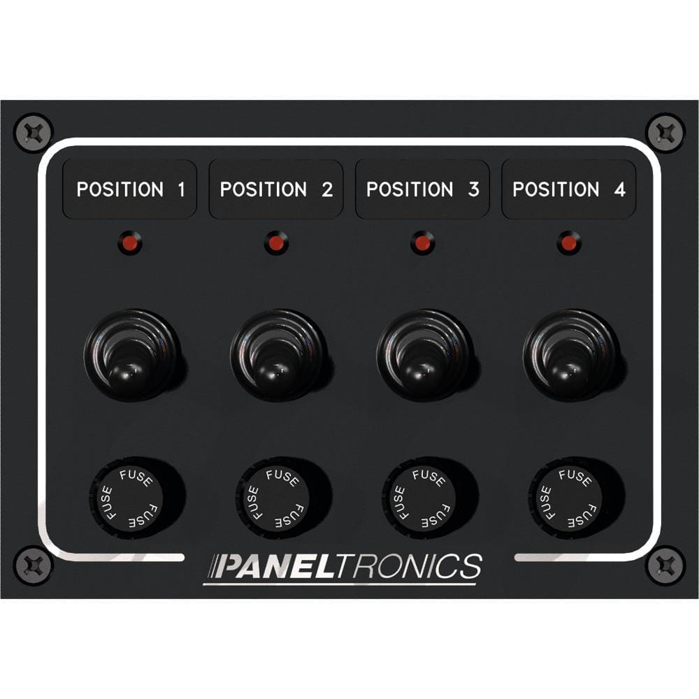 Paneltronics Waterproof Panel - DC 4-Position Toggle Switch & Fuse w-LEDs