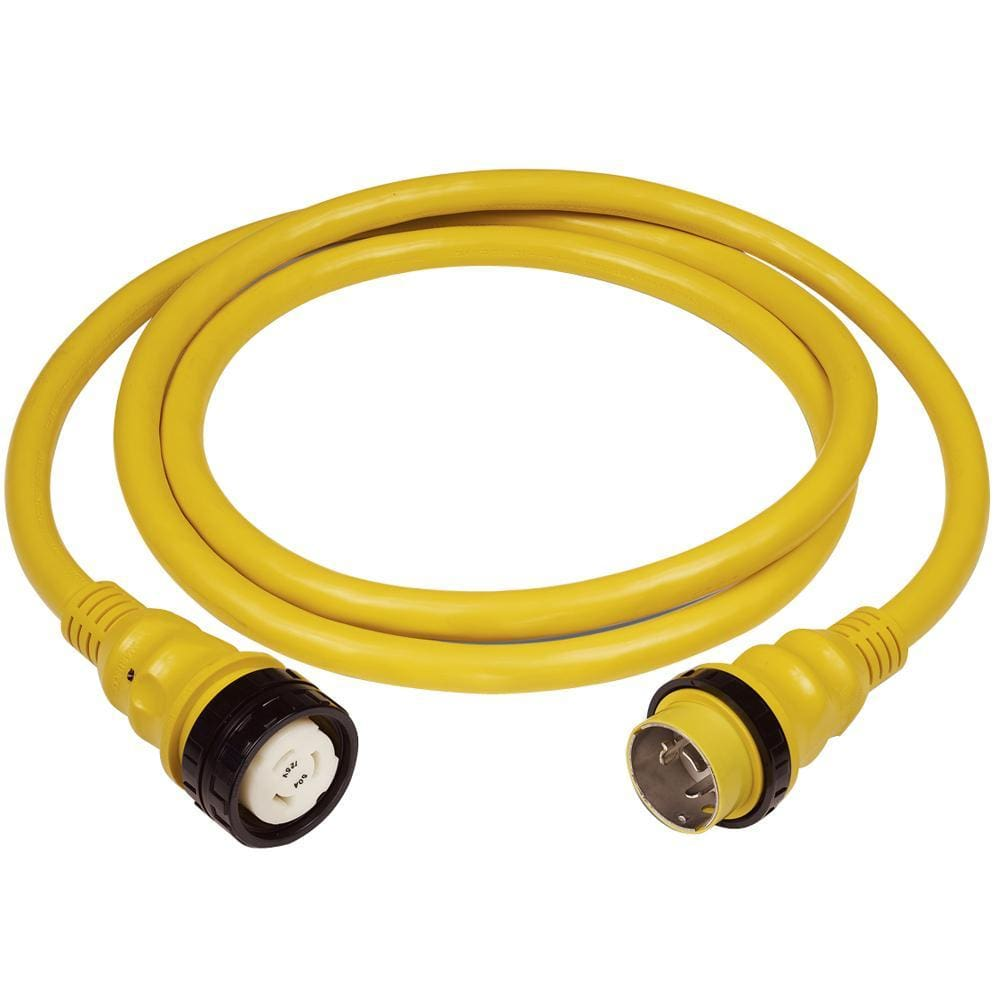 Marinco 50Amp 125-250V Shore Power Cable - 50' - Yellow