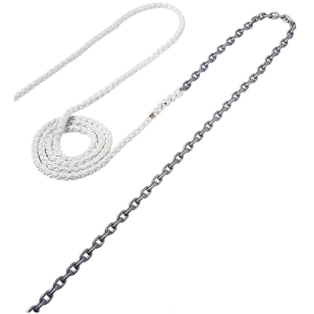 "Maxwell Anchor Rode - 15'-5-16"" Chain to 150'-5-8"" Nylon Brait"