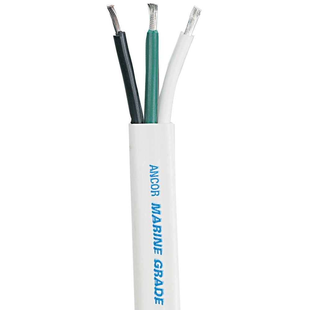 Ancor White Triplex Cable - 8-3 AWG - Flat - 25'