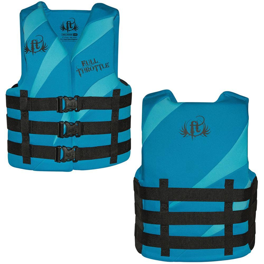 Full Throttle Rapid Dry PFD - Adult L-XL - Aqua-Blue