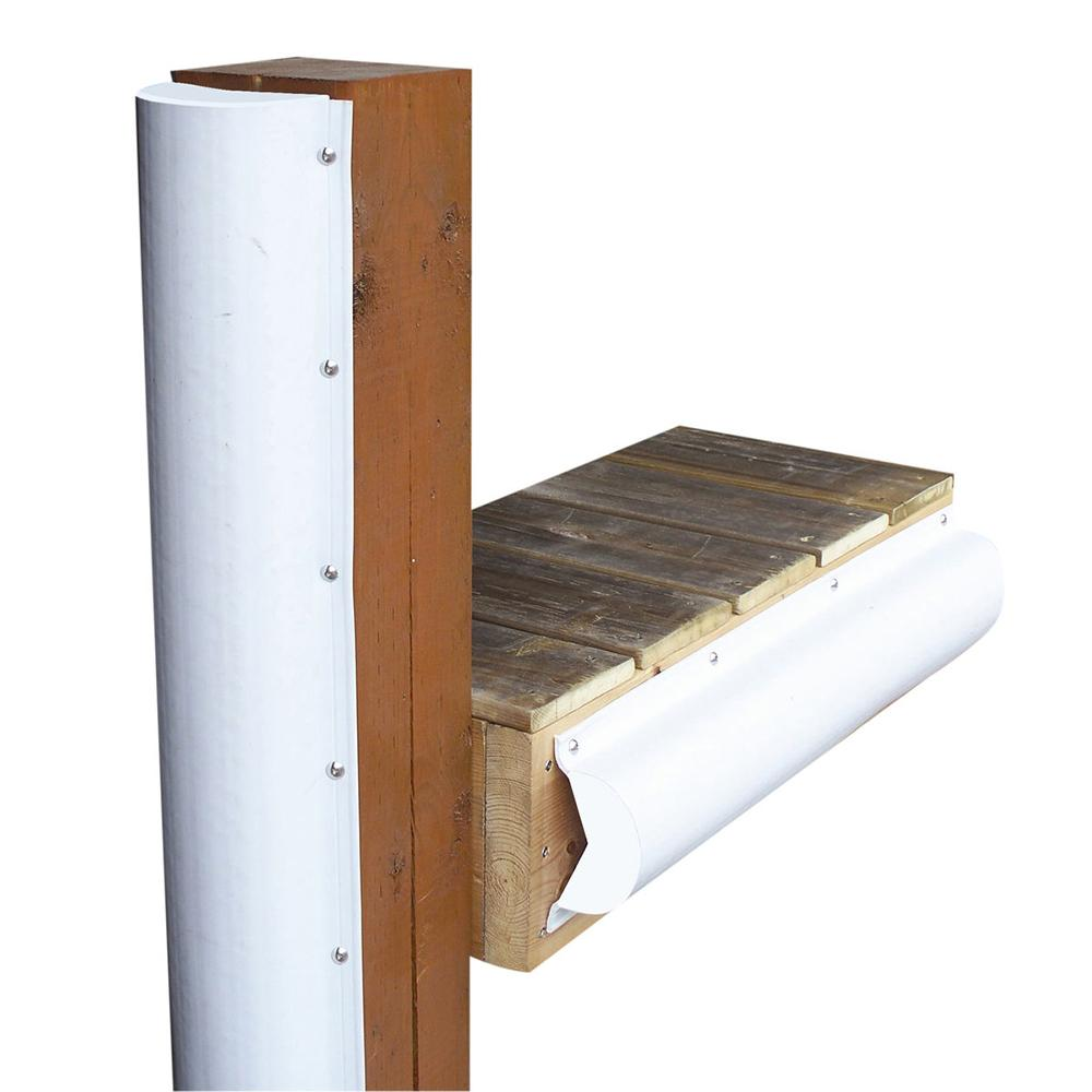 Dock Edge Piling Bumper - One End Capped - 6' - White