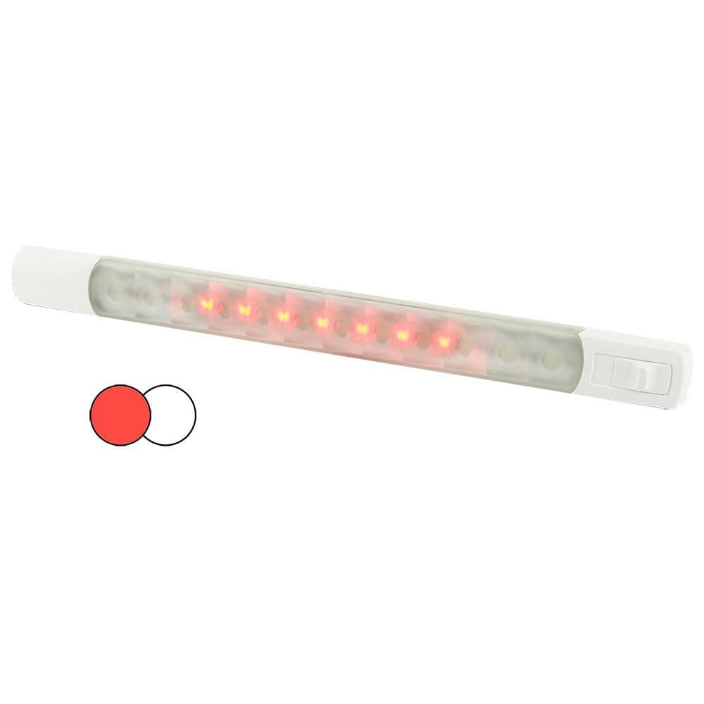 Hella Marine Surface Strip Light w-Switch - White-Red LEDs - 12V