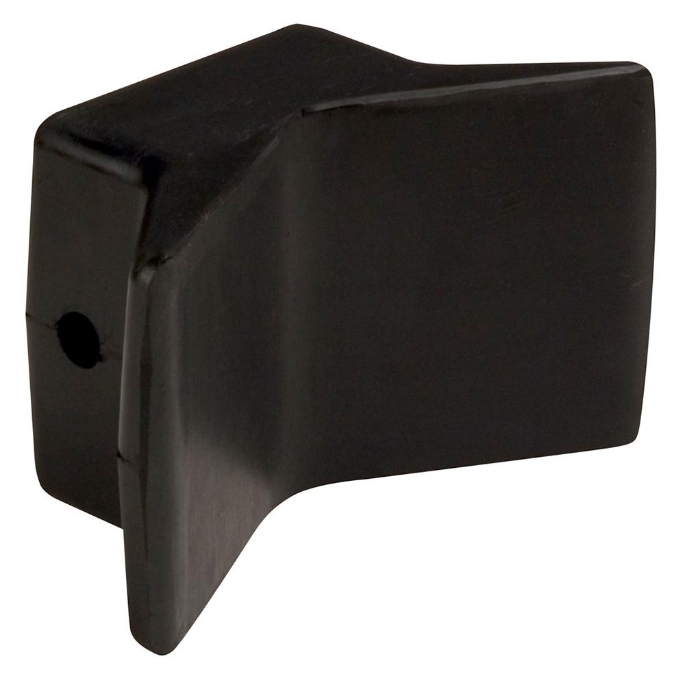 "C.E. Smith Bow Y-Stop - 4"" x 4"" - Black Natural Rubber"