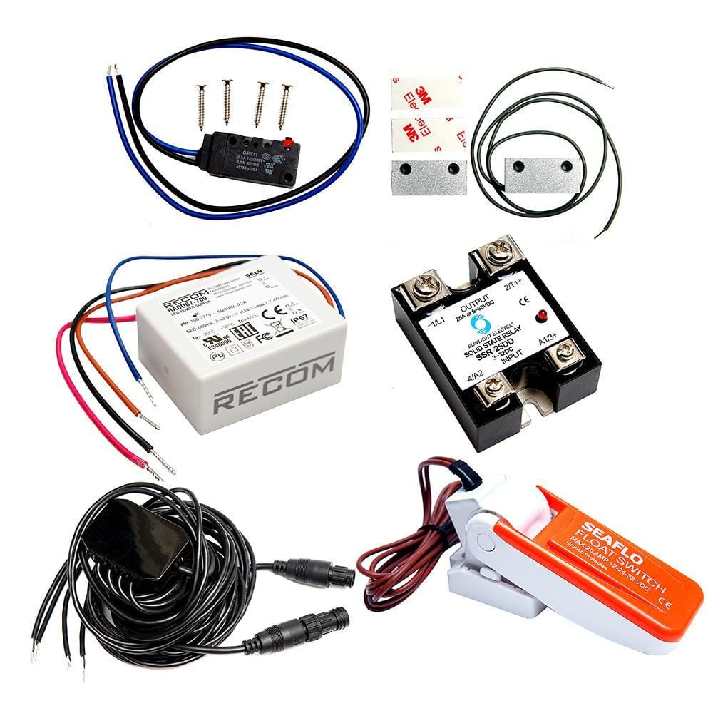 Mazu M25 Sentry Kit Includes Adapter Cable Float Switch Garmin 300c Fishfinder Wiring Diagram Magnetic Contacts Backup