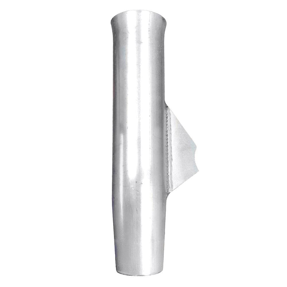 Tigress Weld On Aluminum Flared Rod Holder w-Blade Mill Finished 10""