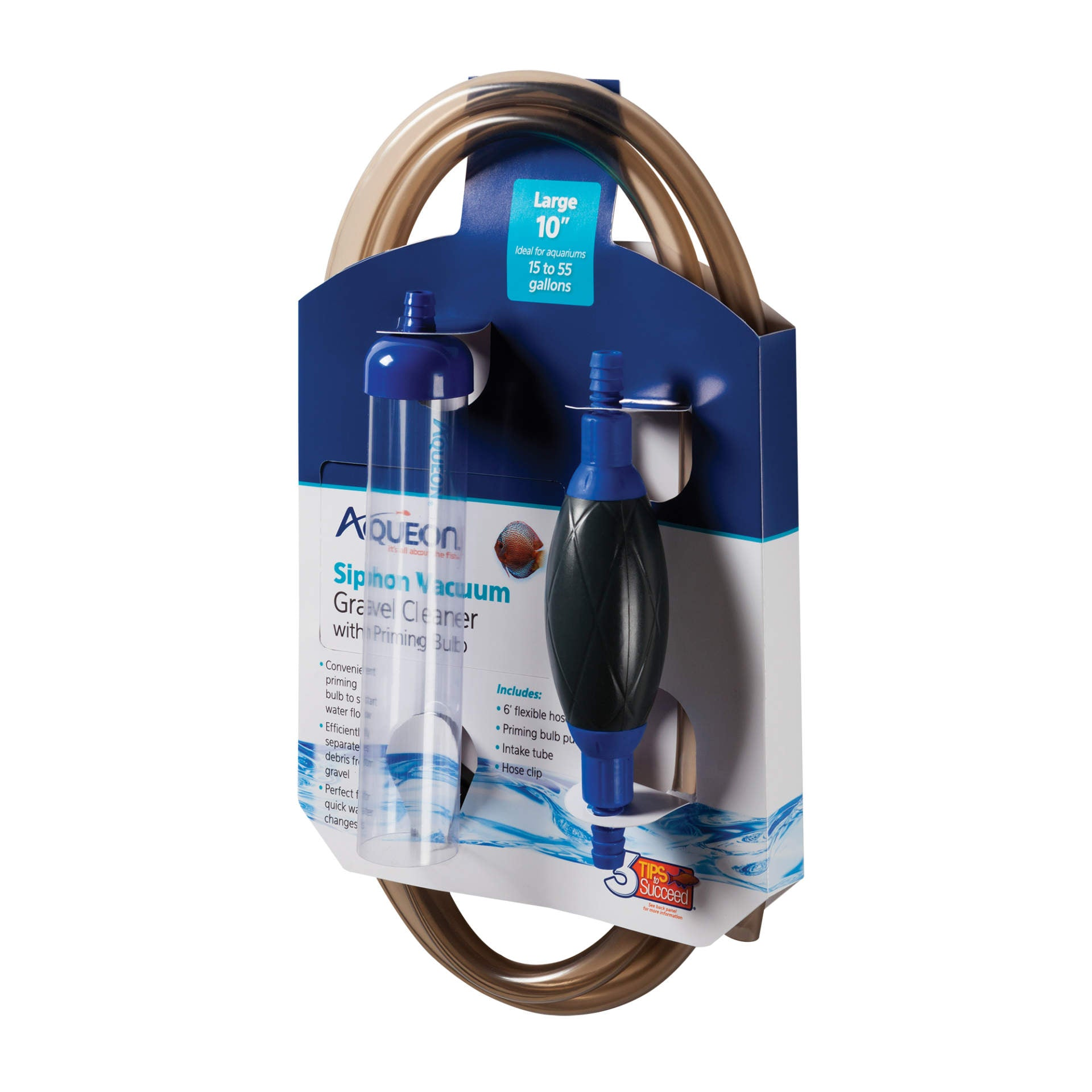 """Aqueon Siphon Vacuum Gravel Cleaner With Bulb Large 9"""" X 4"""" X 19.3"""""""