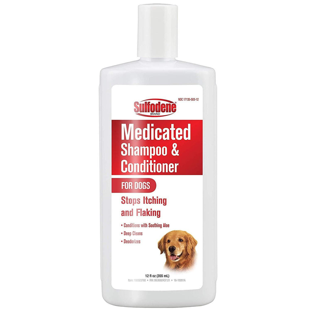 Sulfodene Medicated Shampoo For Dogs 12 Ounces