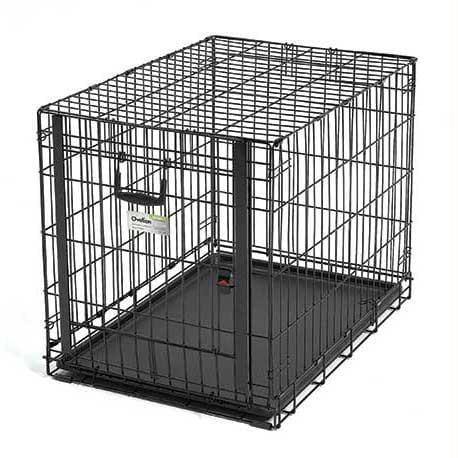 "Midwest Ovation Single Door Crate With Up And Away Door Black 31.25"" X 19.25"" X 21.50"" - Got2Save"