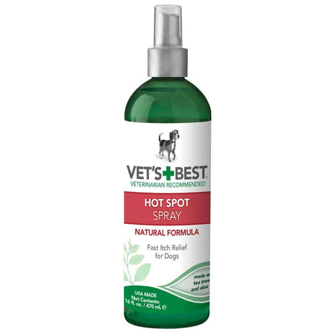 "Vet's Best Hot Spot Dog Skin Care Foam 4oz Green 2"" X 2"" X 6.5"""
