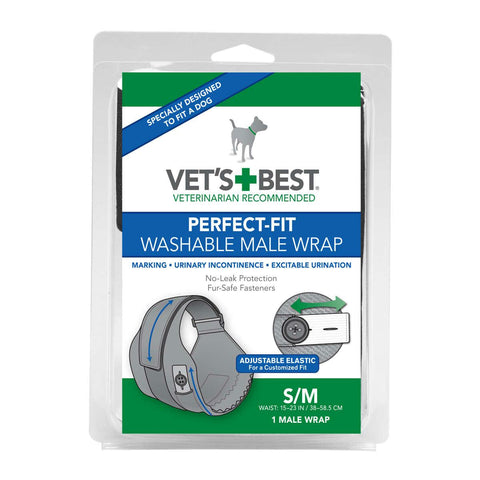 "Vet's Best Perfect-fit Washable Male Wrap 1 Pack Extra Extra Small - Extra Small Black 4"" X 1.28"" X 6.75"