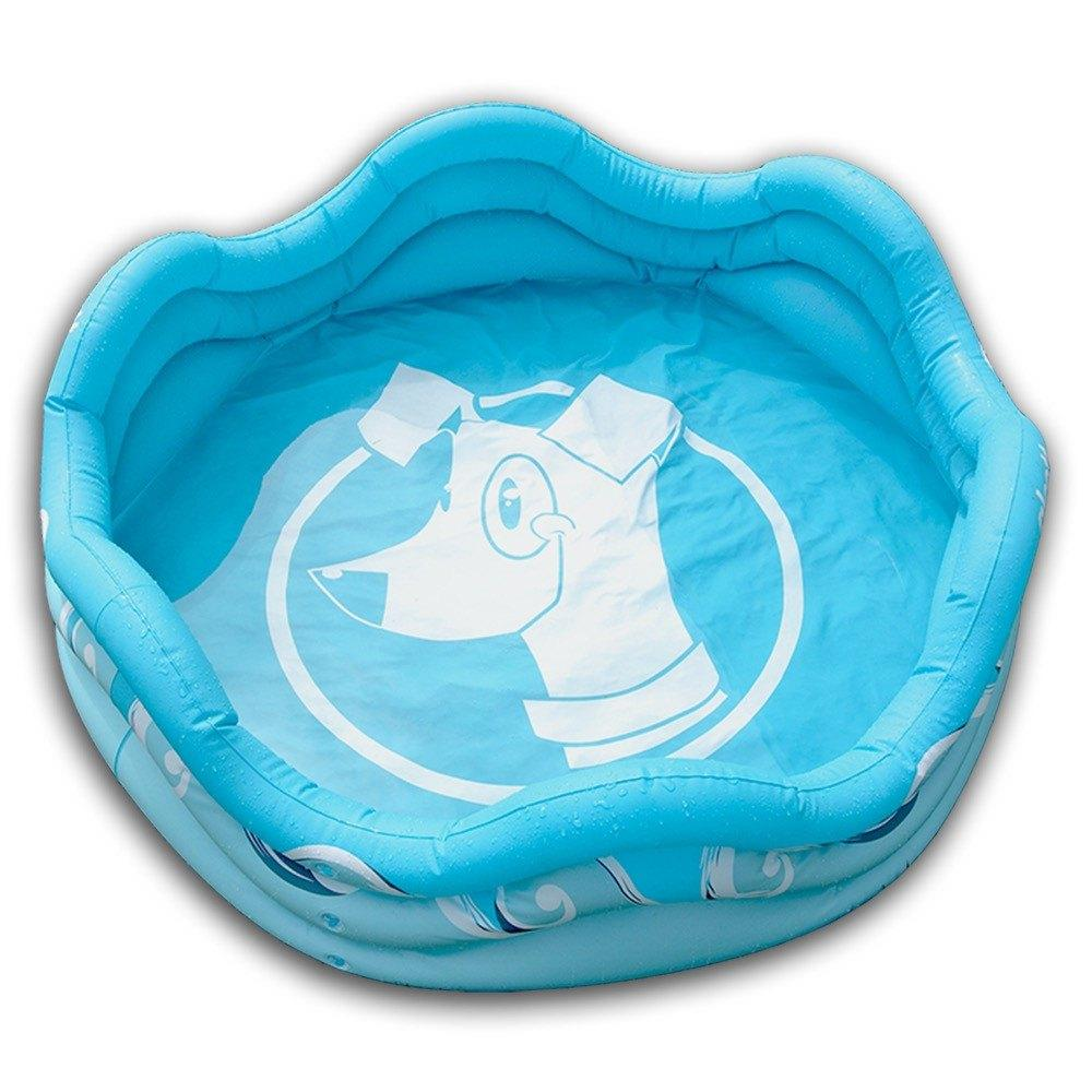 "Alcott Mariner Inflatable Dog Pool Blue 48"" X 48"" X 16"""