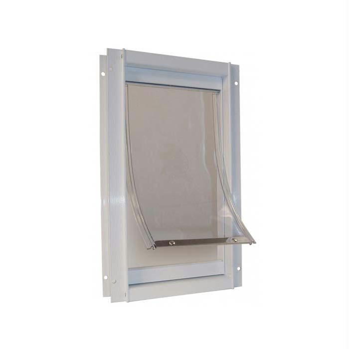 "Ideal Pet Products Deluxe Aluminum Pet Door Medium White 2.12"" X 9.94"" X 15"""