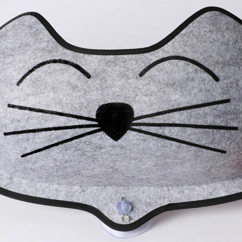 "K&h Pet Products Kitty Sill - Ez Window Mount Gray - Black 12"" X 23"" X 0.5"""