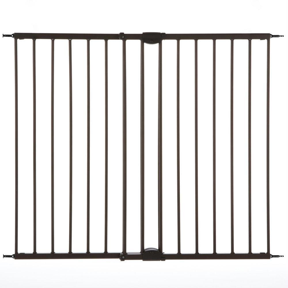 "North States Easy Swing And Lock Wall Mounted Pet Gate Matte Bronze 28"" - 48""  X 31"""