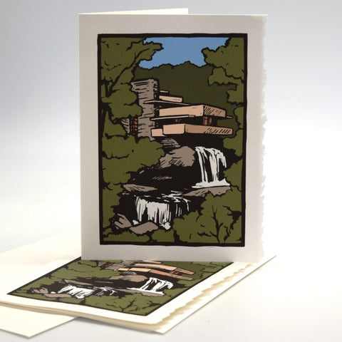 Fallingwater Note Card By Maywood Art