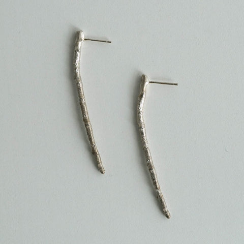 Twig Stud Earrings - Gold & Silver