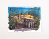 NEW! Fallingwater, Night View Print