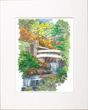 NEW! Fallingwater Iconic View Fall Print