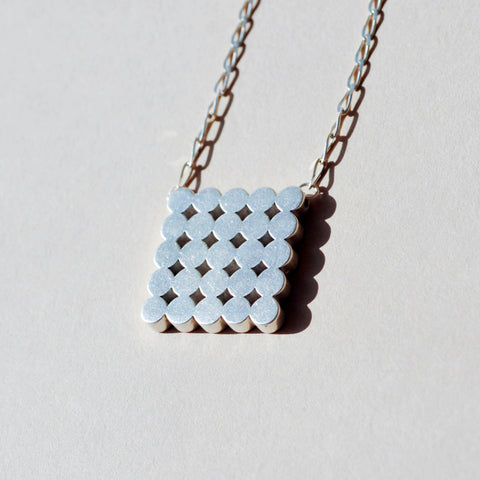 Circles in a Square Necklace