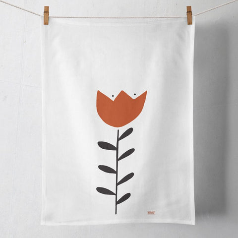 Crown Flower Tea Towel