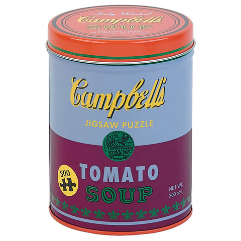 Warhol Soup Can Puzzle, Red Violet