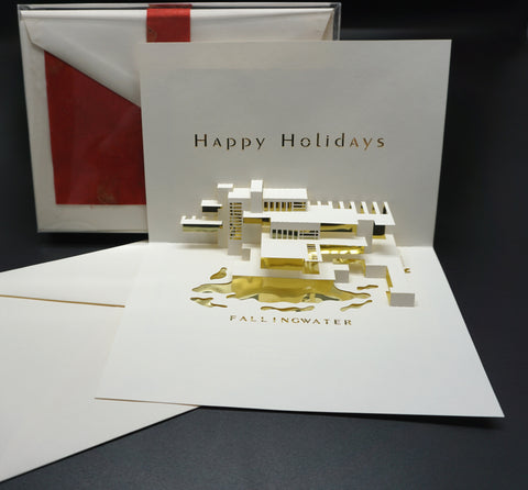 Fallingwater Pop-Up Holiday Card Set