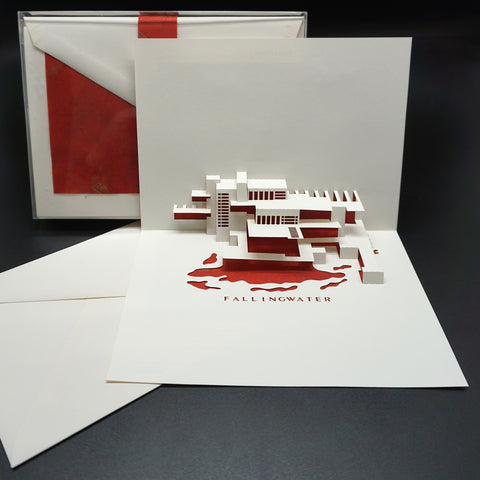 Fallingwater Pop-Up Note Card Set