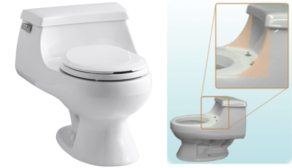 2 In One Toilet Seat. Note that certain toilet models  curved one piece bowls such as the Kohler Rialto do not support Lotus seat Installation Hygiene Systems