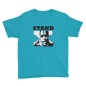 Stand for Something or Fall For Anything (Malcolm X Youth Tee; lighter colors)