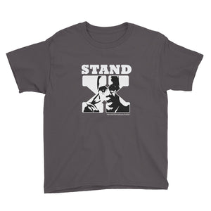 Stand for Something or Fall For Anything (Malcolm X Youth Tee; darker colors)