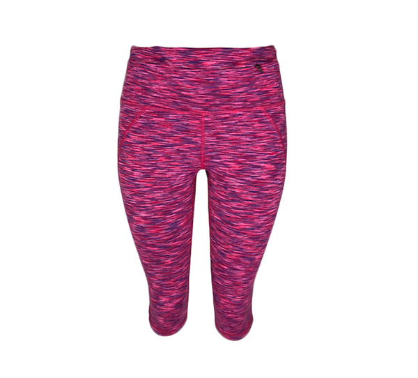 Pink Spacedye Crop Legging