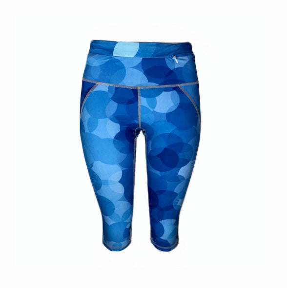 Blue Circle Crop Legging