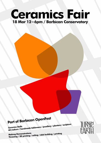Ceramics fair at the Barbican London