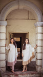 The Ombre Kaftan - White/Pink